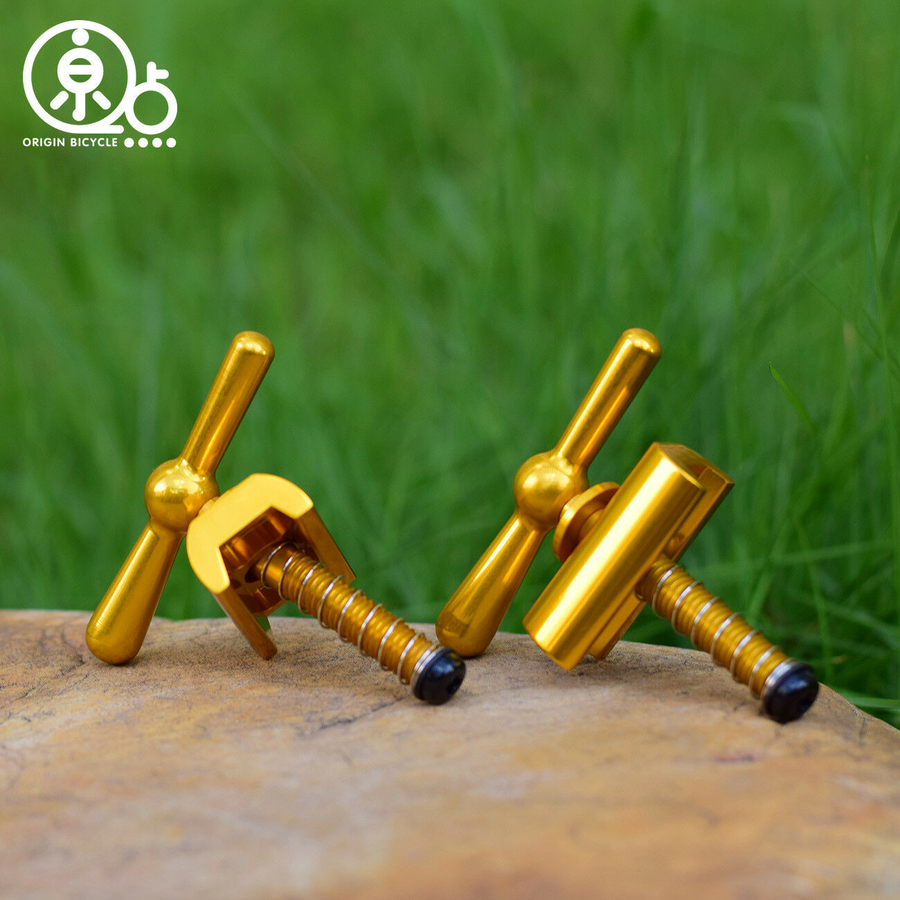 Lightweight Hinge Clamp Lever and Plate For Brompton Bicycle gold  Aluminum