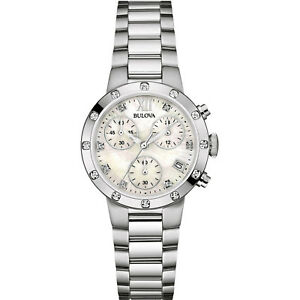 Bulova-Women-039-s-96R202-Quartz-Diamond-Accents-Chronograph-Silver-Tone-30mm-Watch