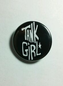 Tank-Girl-Lori-Petty-Name-Schwarz-B-amp-w-Star-Film-1-25-034-Pinback-Button-Anstecker