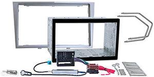 OPEL-Astra-H-Corsa-D-Zafira-B-Radio-Blende-Adapter-Doppel-2-DIN-Einbau-Rahmen