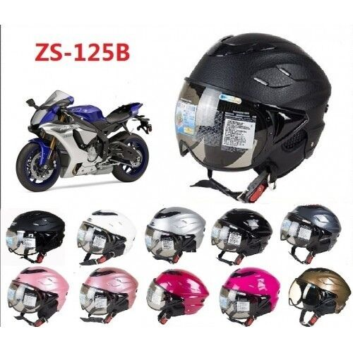 Helmet Open Half Face Visors Motorcycle Scooter ZEUS Jet Pilot Style ZS-125B