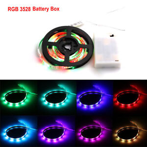 Battery-Powered-3258-SMD-Tape-RGB-LED-Strip-Light-Flexible-Waterproof-1m-5m