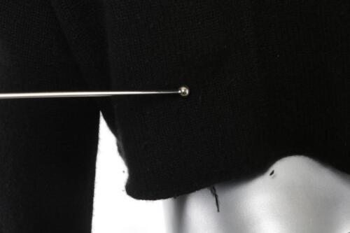 Pamela Cardigan 3 Noir 4 Femmes Barish Col Pour Fourrure Tricot Pull sleeve qqP4w