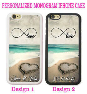 best authentic 5bba1 4a74a Details about INFINITY LOVE BEACH HEART COUPLE MONOGRAM PHONE CASE COVER  FOR IPHONE XR X 8 7 6