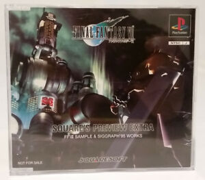 Details About Final Fantasy Vii 7 Ps1 Square S Preview Extra Ffvii Sample Siggraph 95 Works