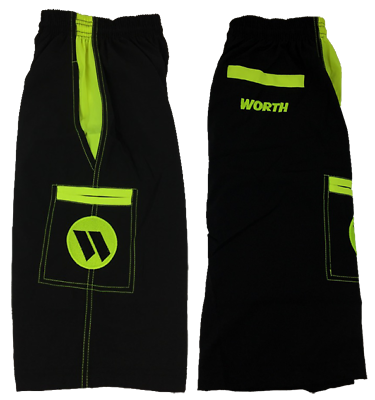 Activewear Bottoms Faithful Worth Microfiber Shorts Black/volt Medium Factories And Mines