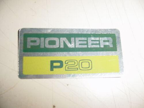 PIONEER CHAINSAW P20 20 STICKER DECAL STBX855