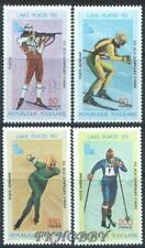Togo 1980 Mi 1414-17 ** Olimpiada Olympiade Olympics Lake Placid Skiing Skating
