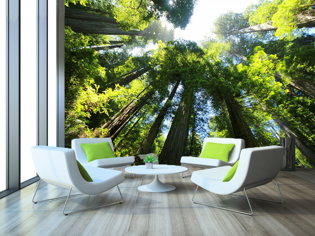 3D Grün Trees 66 Wallpaper Murals Wall Print Wallpaper Mural AJ WALL AU Lemon