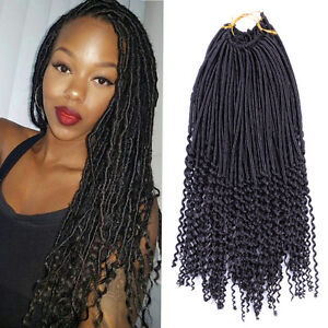 Details about 1Pcs Crochet Braids With Curly Hair Faux Locs Curly Ends  Dreadlock Extensions