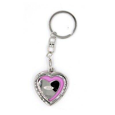 Au-tomotive Gold Official Licensed for Mazda Logo Heart Shaped Pink Photo Keychain Key Ring Fob