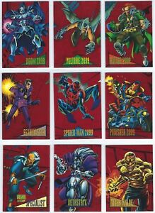 1993-Skybox-Marvel-Universe-IV-4-Red-Foil-Stamped-2099-You-Pick-Finish-Your-Set