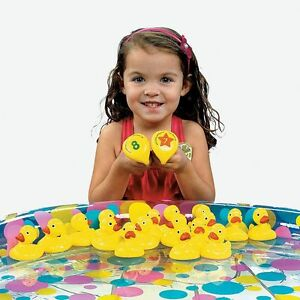 80-Yellow-Weighted-Plastic-Carnival-Ducks-For-Matching-Game-Birthday-Party
