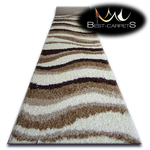 Modern Hall coureurs largeur doux à poils longs tapis beige largeur coureurs 80-200 cm Extra Long Tapis 34cab7