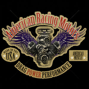 American-Racing-Motors-Drag-Power-Performance-Hot-Rat-Rod-Car-T-Shirt-Tee