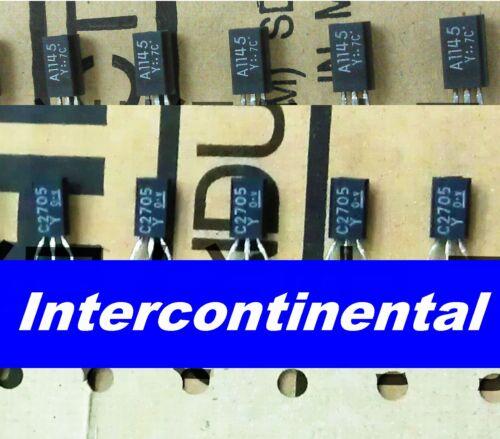 10pcs 2SC2705Y C2705   TOSHIBA DIP Transistor TO-92L 10pcs 2SA1145Y A1145