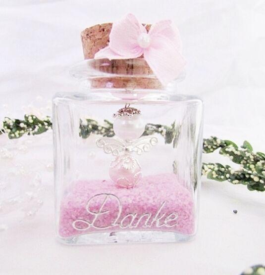30 Weis-Rosa-Schutzengel im Glas ,Gastgeschenk,Taufe,Hochzeit ,Kommunion,Geburt | Stabile Qualität  | Elegantes und robustes Menü