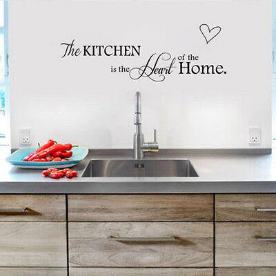 2015 New English Kitchen Heart Waterproof Mural PVC Decal Decor Wall Sticker DIY