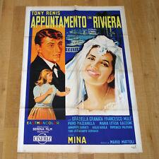 APPUNTAMENTO IN RIVIERA manifesto poster Sanremo Mina Tony Renis Claudio Villa
