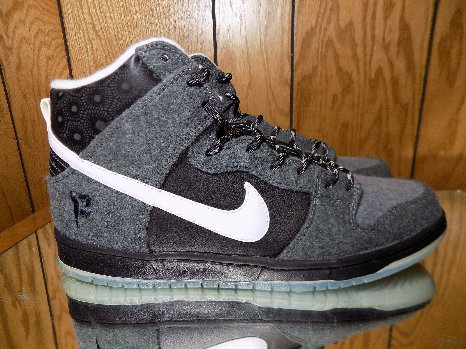 Nike Dunk High SB PREMIER Branded PETOSKEY CHARCOAL GREY ICE 645986-010 s.10
