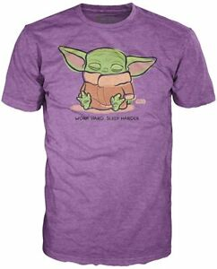 The-Mandalorian-The-Child-Sleeping-Purple-Pop-T-Shirt