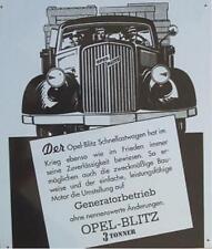 Älteres Blechschild Oldtimer Opel Blitz 3 Tonner LKW Reklame Werbung  gebraucht