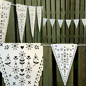 Wedding-Hanging-Decorations-Vintage-Banner-Bunting-From-Ceiling-Reception