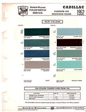 1952 CADILLAC 60S 62 75 FLEETWOOD DE VILLE SIXTY 52 PAINT CHIPS SHERWIN WILLIAMS