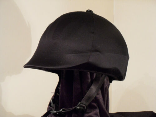 only with Button /& Bow English Equestrian Horse Riding Black Lycra Helmet Cover
