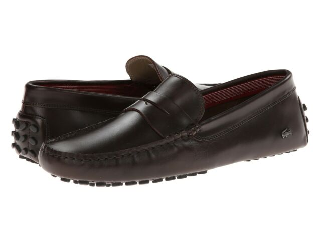 c15a434f4 Lacoste Concours 14 Men s Casual Moccasins Leather Loafer Shoes US10 -US11  Brown