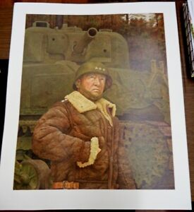 GENERAL GEORGE S PATTON BY ARMAND LAMONTAGNE LIMITED SIGNED EDITION ART PRINT
