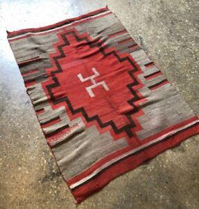 Image Is Loading Antique Navajo Rug Blanket Se Native American Indian