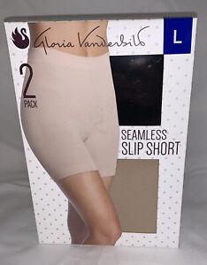 2 pack Womens Gloria Vanderbilt Seamless Slipshort Nude