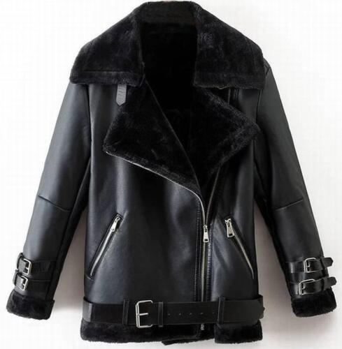 oversize de vestes Parka zippée à courtes cuir chaudes femmes pour fourrure capuche en véritable 77qvpRH