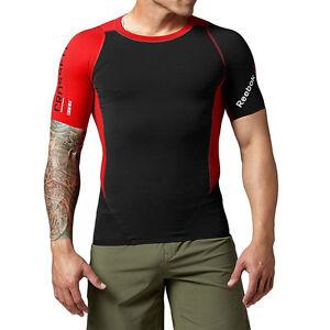 Reebok-Men-s-Crossfit-CNTRL-II-Compression-Tee-Shirt-Black-Z92140-NEW