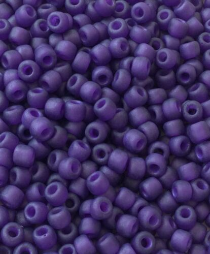 8//0 Japanese seed beads Transparent matte Purple Glass beads 28Grams
