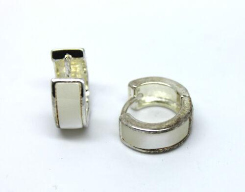 UK Quality Stainless Steel Crystal Huggie Hoop Stud Earrings