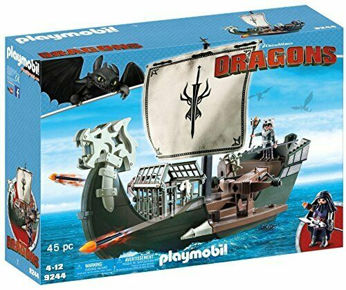 Playmobil 9244 Dreamworks Dragons Floating Dragos Ship with Firing Firing Firing Cannons, 4-1 9a75ca
