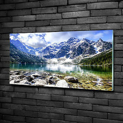 Leinwandbild Kunst-Druck 100x50 Bilder Landschaften Berge See Tatra