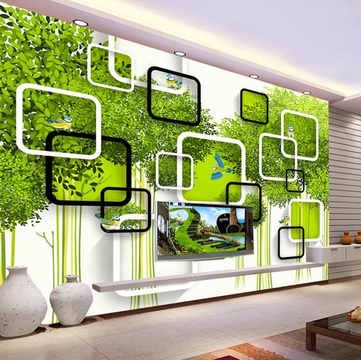 3D Frames Grün Tree 8 Wall Paper Murals Wall Print Wall Wallpaper Mural AU Kyra