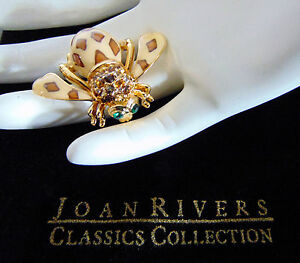 NUEVO-JOAN-RIVERS-OF-THE-JUNGLE-Abeja-Broche-guepardo-Estampado-Animal-Leopardo