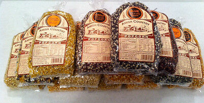 Amish Country Popcorn 2 lb Bags, Choose From 13 Varieties Non-Gmo