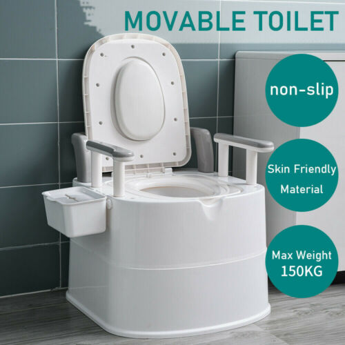 Luxury Portable Camping Toilet White Camping Caravan Home Care Removable Outdoor