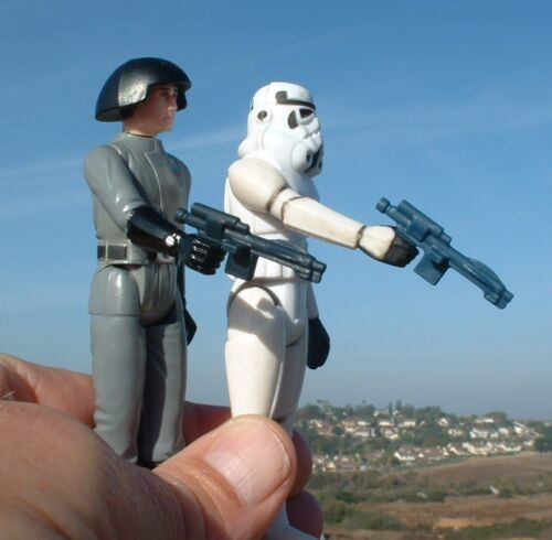 10 LOT CUSTOM Black /& Blue Stormtrooper Weapon FLOAT 1977/& 1980 Vintage Star War