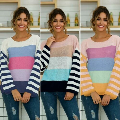 Sweater Knitwear Casual T-Shirt Womens Loose Knitted Pullover Knit Shirt Tops