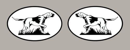 2 X Pegatinas De Perro Puntero signos