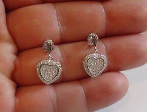 925-STERLING-SILVER-MICRO-PAVE-HEART-DANGLING-STUD-EARRINGS-W-LAB-DIAMONDS