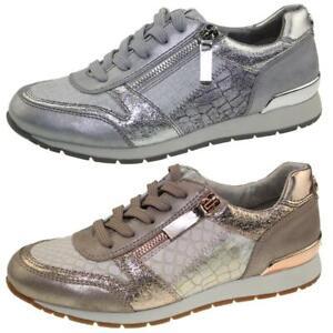 TOM TAILOR 4894105  leichter Damen Sneaker Low-Top  Halbschuh Glitzer metallic