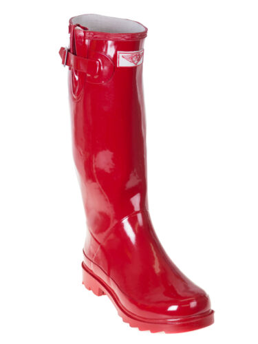 Waterproof Garden Boot Mid-Calf Solid Wellies Women/'s Rubber Rain Boots