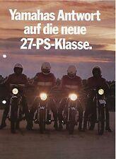Prospekt 1977 Yamaha Motorrad RD 250 XS 360 DT 400 XT 500 Motorradprospekt Japan